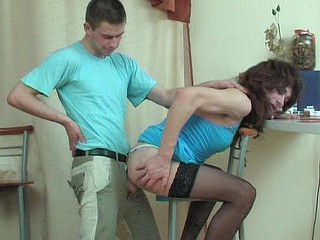 Sex-avid gay sissy getting gaping hole in frenzied butt-to-mouth action