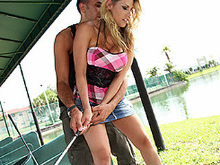 Golf is a tender sport and Charisma appears to be to have the edge over learning it the hard way as this hottie proves this hottie can learn it fast. This is a day on a driving range and likewise a tell all interview of..