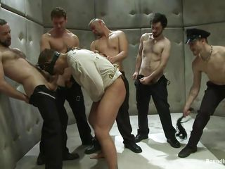 Being blindfolded and in a straitjacket the sexy male has no alternative then to obey those lascivious gays. That guy is in a sanatorium but the only thing that's crazy here is the way they are fucking him! At 1st the..
