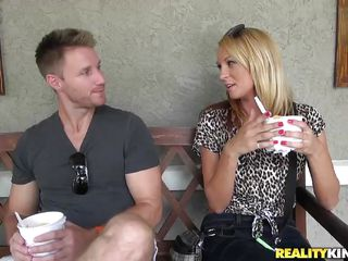 Blonde milf Whitney X has become ally with this charming guy who seduced her to have sex with him. They started with slow kisses until they the one and the other got wild. The blonde milf gets slutty and she started..