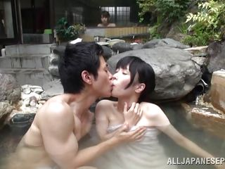 That's relaxing! What can u wish for more then having a brunette skinny babe and such a hot tub. The guy is pretty lucky and his situation gets more good because this girl is horny and craves him. This babe opens her..