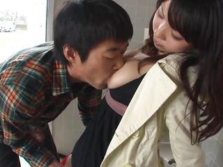 Lascivious Japanese MILF Yui has some seriously seductive boobs that made this guy keep sucking and groping her milk cans and nipples! The guy fingers her hairy muff well enough so that the lewd mommy craves it more. Then the lewd MILF turns around and let the guy fuck her from behind like a bitch!