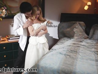 New bride Lexi Belle gets drilled by her stud
