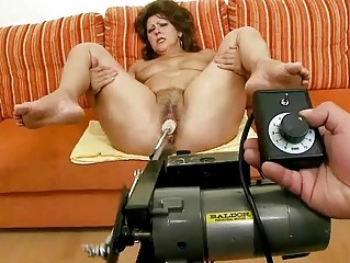 Lusty granny doing blowjob and riding pecker