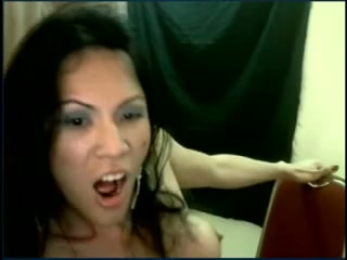 Crazy ladyboy masturbating