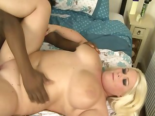 British Blond BBW Interracial