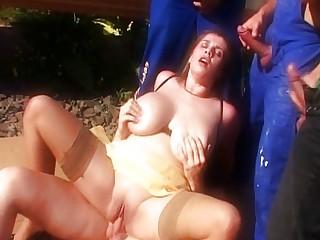 Bozena - GF fucked by BF and strangers