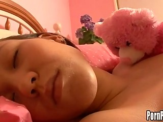 Asin Pleasantheart Amai Liu Gets Her Face Gap Attacked By A Shlong While Sleeping