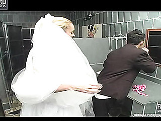 Outrageously hawt sheboy bride getting fucking kicks after wedding ceremony