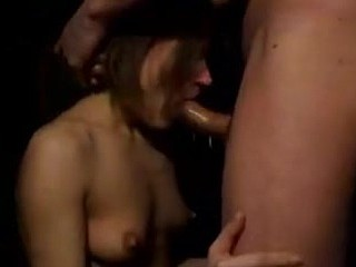 The guy in this clip doesn't seem very nice when his chick is giving it her all on the BJ and he pushes her head deeper with both hands. The bad boy in him turns her on and this babe puts her entire body into the head..