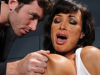 Lisa has been apprehended & is being held captive! During her questioning, this babe stresses just how little that babe's willing to cooperate.  Fed up of her nasty attitude, the Detective brings in his almost all..