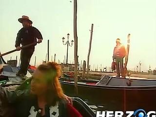 Heidi goes into Venice for a baroque threesome