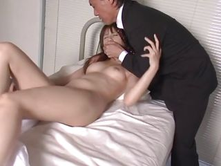 He founds her stripped in bed and exploits her innocents and her juvenile sexy body. The older man gives her a rimjob and keeps those sexy legs up while licking her anus and pussy. Now that she's all wet he sucks her..