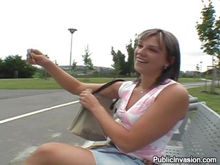 This hot slut with nice lengthy legs, pretty face and small tits receives some money for opening her legs and then her mouth. Look at her as she sucks this guys schlong right there on the road ant then goes with him in..