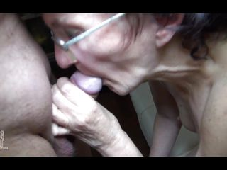Granny Veronica knows how to engulf my cock. She's a real pro with a huge background in sucking and swallowing hard dicks. Look at her sliding those lips on my penis and taking all the way in her throat. I think I will..