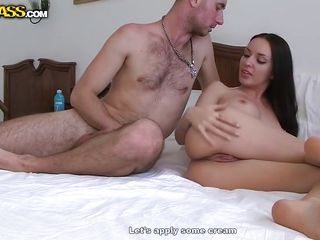 Aurita likes to travel around the world and test the cocks of different races. Here she is in Egypt and after learning about their culture she acquires stripped to learn a lot more about how they fuck. She is stripped on that bed now and her dark hair, hot thighs and big appetite for fucking are going to make her known!