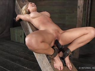There's nothing greater amount beautiful then seeing a big boobs blond tied up and with her pussy stuffed. This luscious blond is receiving all the pain, pleasure and humiliation she deserves as the executor, fascinated..