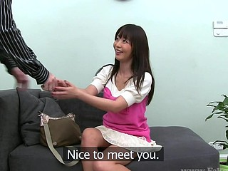 Monica (39 mins) Monica is so sexy that my knob was literally bursting out of my  pants throughout the entire interview. That Babe's a amazingly sexy Japanese hotty who has come to Europe looking for more work. That Babe..