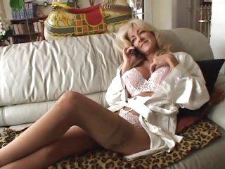 Blonde MILF Lexi Carrington is stuffed in her nylons