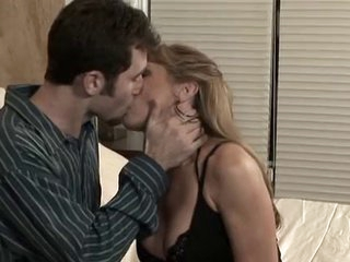 Mature Hot Mom With Youthful Man in Bedroom