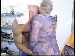 German Granny fucked by black dude