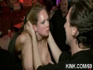 Breasty hotty and servant humiliated and screwed