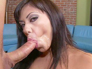 Satine Phoenix displays her natural meatballs perfectly as that chick squats down low to look up at her guy with her pliant eyes. U won't catch this dick-sucker cheating away from the wang or trying to dodge the spunk..