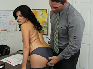 Hot Brunette Danica Dillon Bend Over For Aaron