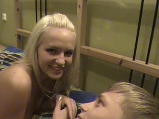 Blond angel and her blond boyfriend in wonderful xxx action