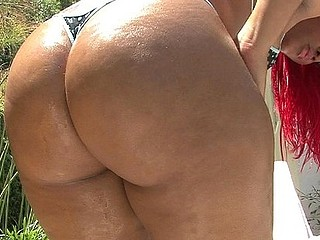 Casting a full-bodied honey like Luscious Louis means we get to bend her over and watch her big butt cheeks quiver like jelly as we slam her bawdy cleft from behind.  That's the most good view of the action but Luscious..