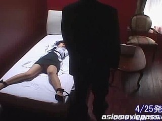 China Yuuki is a slutty doctor having sex with her colleagues  gets tied up and gets cum facual cumshots.