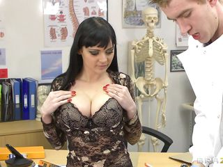 Anastasia Brill is a Twenty years old romanian babe with lengthy black hair huge awesome boobs and big sexy ass. This sexually excited doctor slowly takes her clothes off as that guy enjoys her wonderful sexy body. Then..