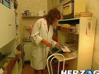 Hawt nurse seduces and acquires group-fucked by the assistant