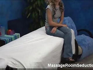 Sexy girl in massage room