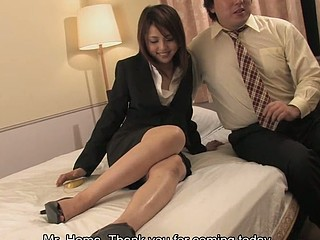 Seductive Rino Mizusawa with tiny merry boobs enjoys in taking on her clients hard boner in one of the apartments on the daybed and enjoys in sucking it with pleasure previous to taking it up her trimmed and tight cookie..