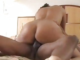 Horny slut fucked hard in the bedroom