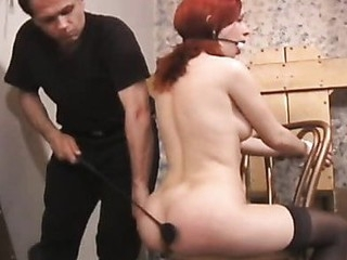 Playgirl becomes submissive and the ropes leave her vulnerable