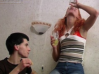 Valeria and Max pour a gulp and toast and that's just the starting as more and more liquor is sucked down. At some point his panties come off and that sweetheart appears to be unfazed. That makes sense when her panties..