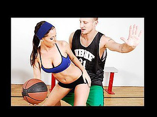 Brandy has won a contest to play a game of 1-on-1 with her favourite basketball player, Mr. Pete.  This Babe is absolutely ecstatic to meet her idol.  Brandy suggests a game of H-O-R-S-E, solely with a twist: the game is..