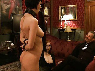 Extreme fantasy of girl bound and double penetrated by strangers.