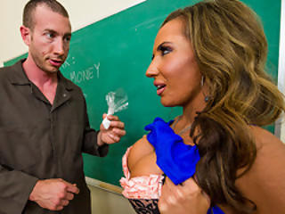 Teacher Richelle Ryan Make The Janitor Forget Ever..