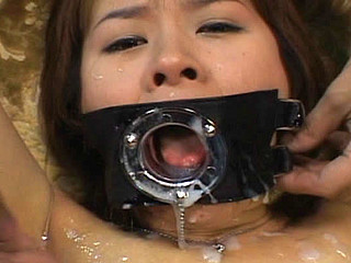 Ai Nananse gives blowjobs  gets bukkake cumshots to her face  collects cum in a glass and in her mouth and swallows it all up.