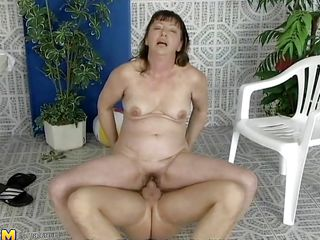 This older woman was looking for a swim, but a better exercise to loosen you up is riding a cock, which is exactly what she's doing. That babe slides down every inch of her man's dick, loving the feeling of being fucked...