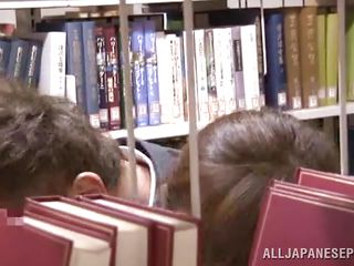 It's a normal library with an ordinary girl that's looking for a good book until something happened. This horny guy got wild seeing her body and he decided to grab and use her right there betwixt these bookshelves. The..