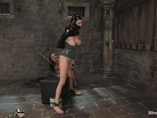 Sandra is a Romanian whore, she fulfills her dream as a mistress and we get to see her doing what she loves most. With an obedient, tied up sex slave in front of her Sandra does her life time passion and punishes the..