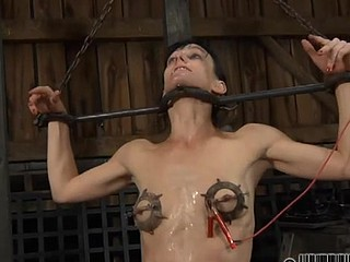 Sexy chick gets her smooth ass whipped during punishment