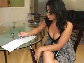 Chunky Latin chick is a hot teacher