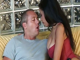 Hawt latina milf eats penis and gets group-fucked in hd