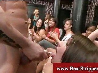 Cfnm hidden stripper blowjobs
