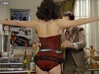 Sexy Brunette Edwige Fenech Walking Around Topless In Hot Lingerie